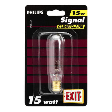 Philips 15W T6 Exit Light Bulb