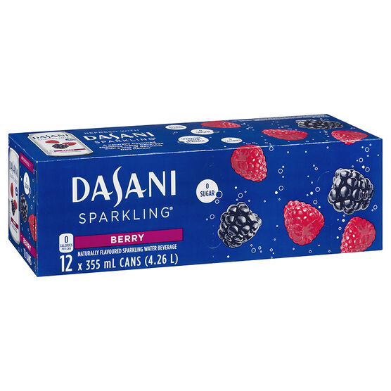Dasani Sparkling Water - Berry - 12 x 355ml