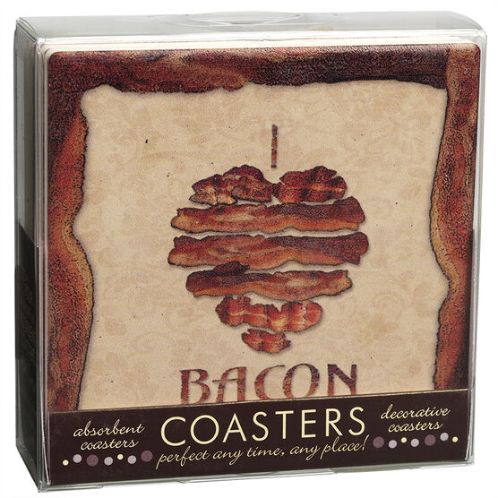 I Love Bacon Coaster Set - 4 piece