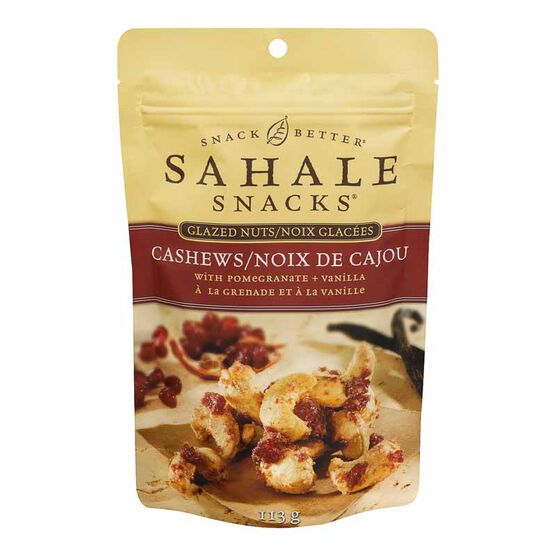 Sahale Snacks Glazed Nuts - Cashews with Pomegranate and Vanilla - 113g