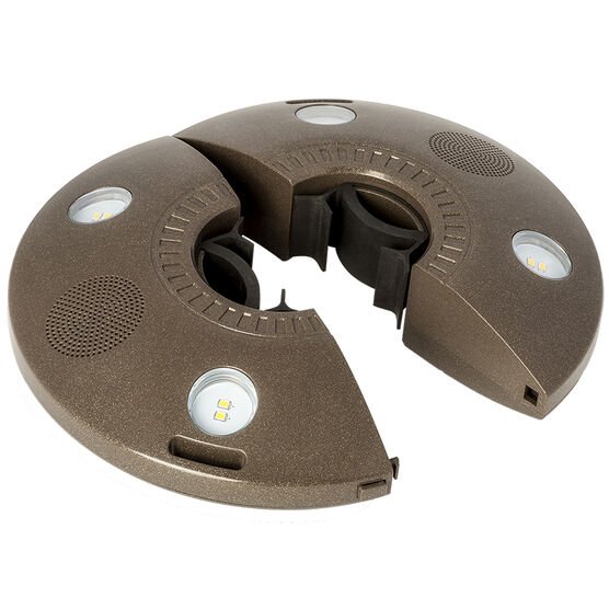 Ion Patio Mate Outdoor LED Speaker - Brown- ISP50