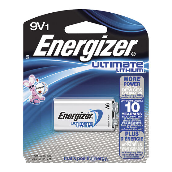 Energizer Ultimate Lithium 9V Battery - L522BP