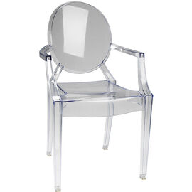 London Drugs Ghost Chair - Clear - 58 x 53 x 91.5cm