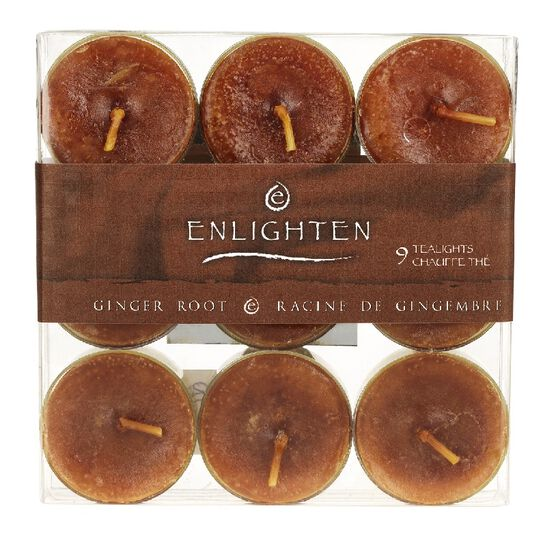 Enlighten Tealights - Ginger Root - 9 pack