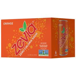 Zevia Soda - Orange - 6x355ml