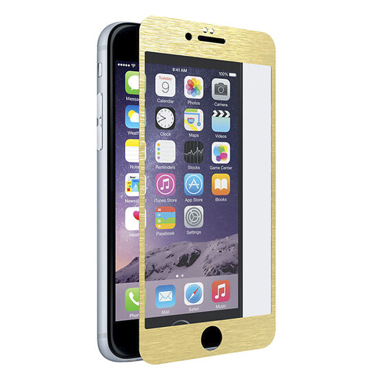 PureGear Tempered Glass Screen Protector for iPhone 6/6s - Gold - PG61302PG