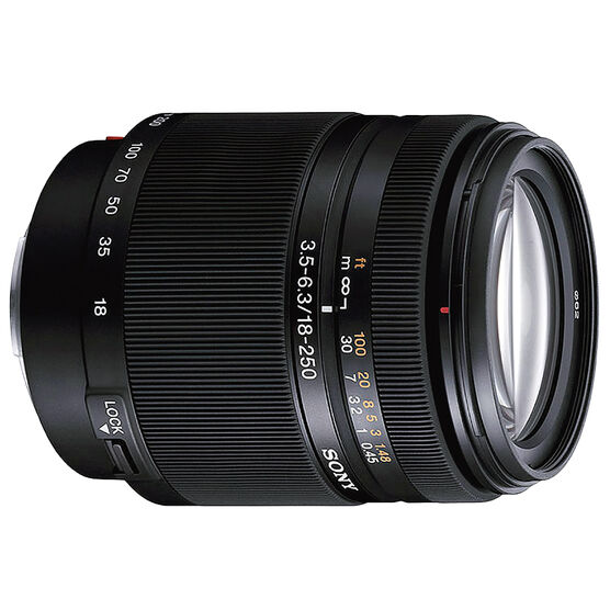 Sony 18-250mm f/3.5-6.3 DT High Magnification Zoom Lens for Alpha DSLR - SAL18250
