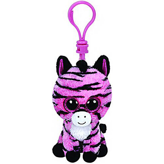 Ty Beanie Boos Clip - Zoey the Pink Zebra