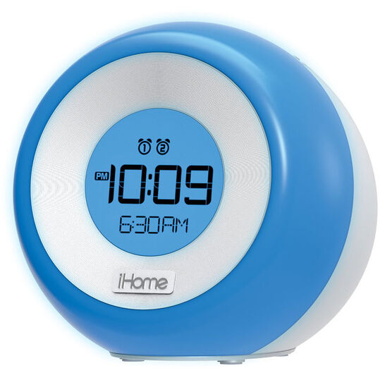 iHome Colour Changing Dual Alarm Clock Radio - Silver - iM29SC
