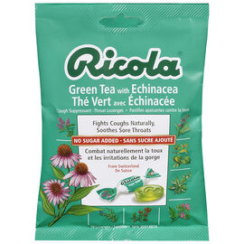 Ricola Cough Suppressant Throat Lozenges - Green Tea with Echinacea - 75g
