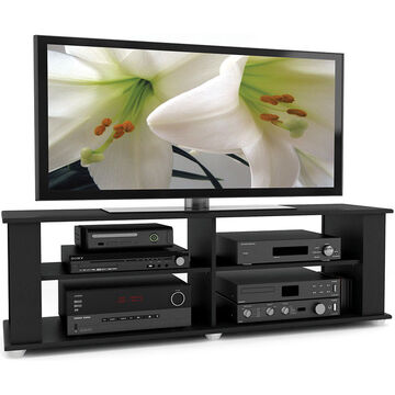 Sonax 58 Wide TV Stand - Up to 68kg TVs - Black - FS-3580