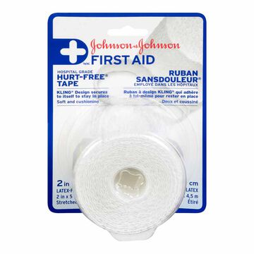 Johnson & Johnson First Aid Hurt Free Tape - 2inch