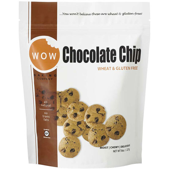 Wow Chocolate Chip Cookies - Gluten Free - 227g