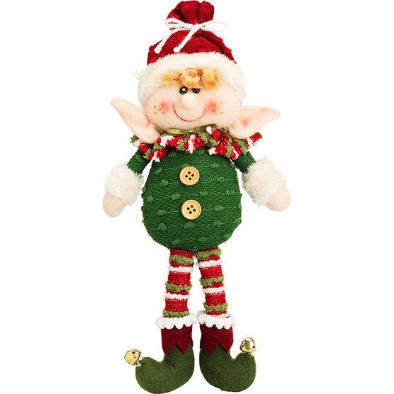 "Winter Wishes Sitting Elf Plush - 13"""