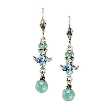 Anne Koplik Inverted Pacific Opal Fleur de Lis Earrings
