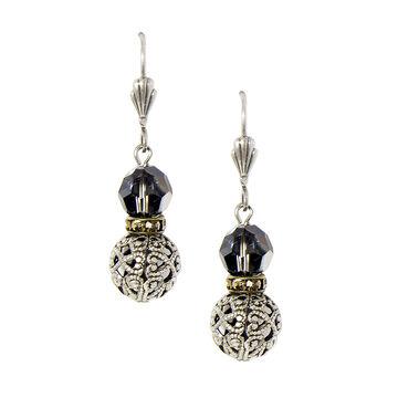 Anne Koplik Silver Night Baroque Earrings