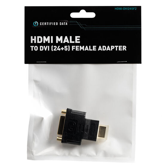 Certified Data HDMI Male to DVI (24+5) Female Adapter - HDMI-DVI245F2