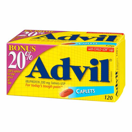 Advil Ibuprofen Caplets - 100's