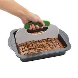 """Perfect Slice Square Pan with Slicing Tool - Grey - 9"""""""