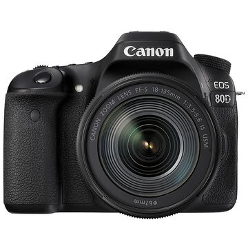 Canon EOS 80D with 18-135mm IS USM Lens - 1263C009