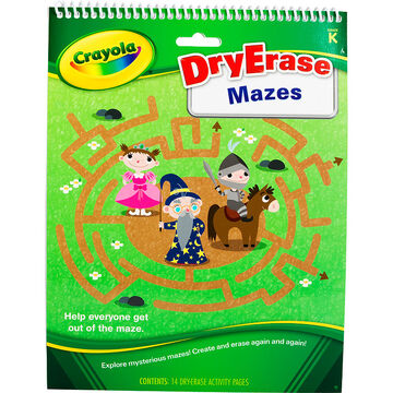 Crayola Dry Erase Mazes Tablet Activity Pages