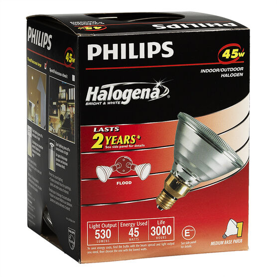 Philips 45W PAR38 Halogena Flood Light Bulb - 129908