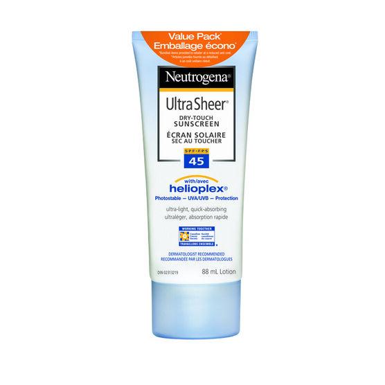 Neutrogena Ultra Sheer Dry-Touch Sunscreen - SPF 45 - 2 x 88ml