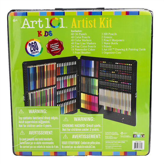 Art 101 Artist Kit - 260 pieces