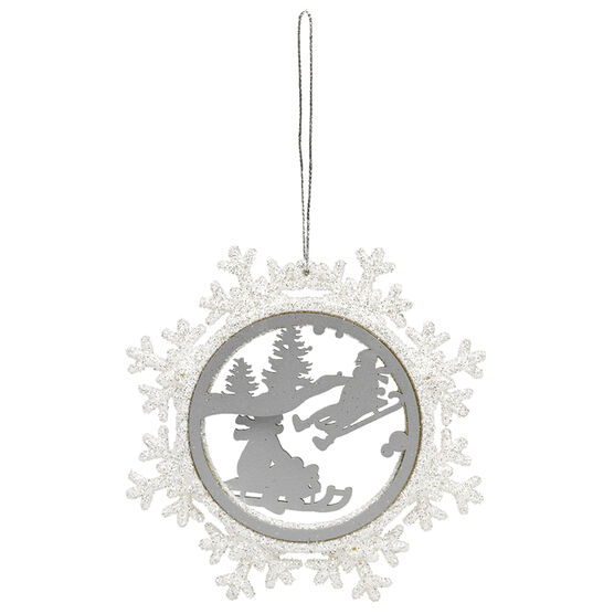 Winter Wishes Sled Scene Ornament - 4.5in - XLD452153FOB