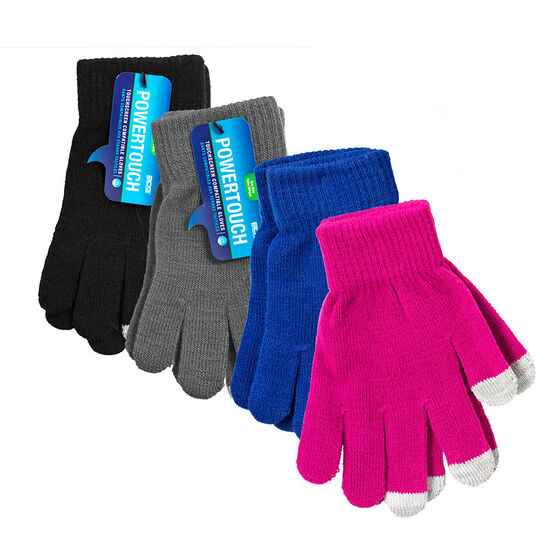 Bob Dale Gloves Powertouch Texting Gloves - One Size - Assorted