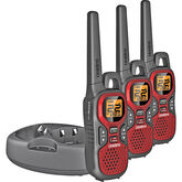 Uniden 48KM GMRS Radio 3 Pack - Red - GMR30403CK