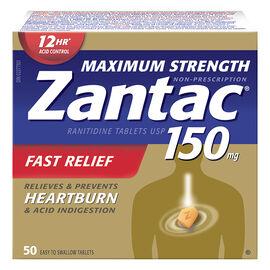 Zantac 150 -  Maximum Strength - 50's