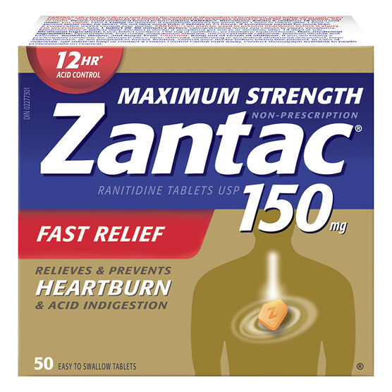 Zantac 150 -  Maximum Strength - 50's