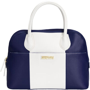 Kenneth Cole Astro Dome Satchel - Navy/White