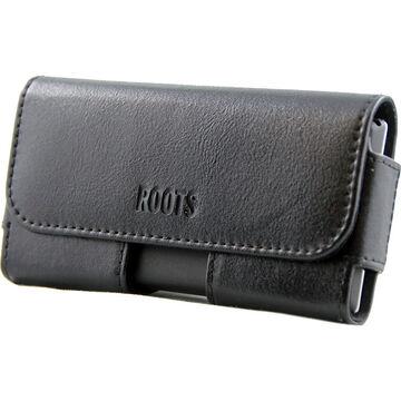 Roots EZ Slide Phone Leather Pouch - Black - REZLBK