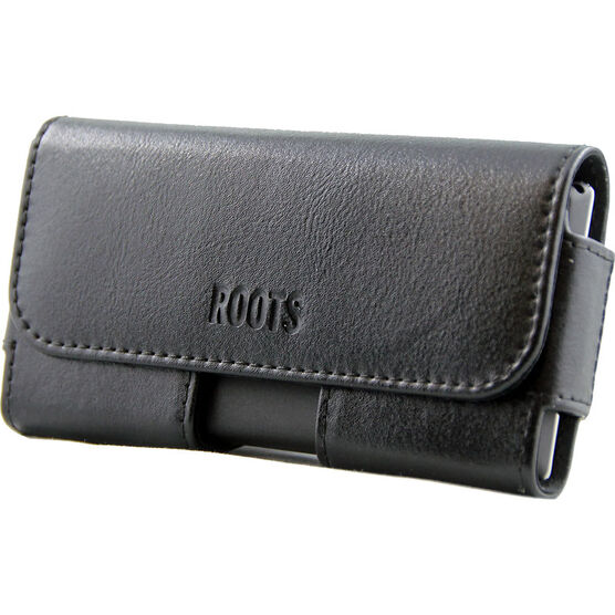 Roots EZ Slide Phone Leather Pouch - Black - REZLBK