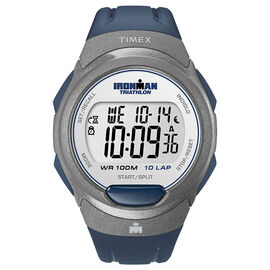 Timex Ironman Full Size Watch - Grey/Blue - T5K610GP