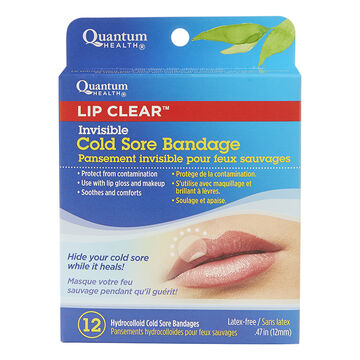 Quantum Health Lip Clear Invisible Cold Sore Bandage - 10's