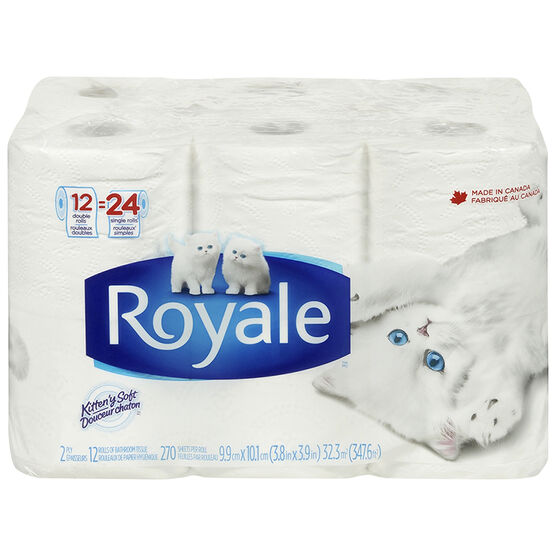 Royale Bathroom Tissue Double Roll - 12's