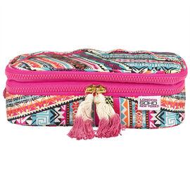 Soho Beautiful Beachy Double Zip Cosmetic Box - A002655LDC