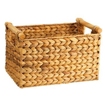 London Drugs Water Hyacinth Basket with Cane Handles - Large