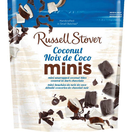 Russell Stover Dark Chocolate Coconut Minis - 170g
