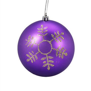 Winter Wishes Elegance Ball Ornament - Gold Snowflake