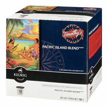 K-Cup Timothy's Coffee Pods - Pacific Island - 18's