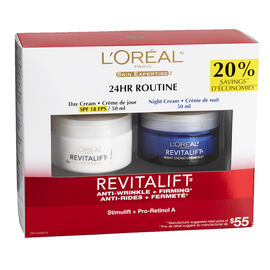 L'Oreal Revitalift 24Hr Routine Kit - 2x50ml