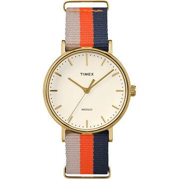Timex Weekender Fairfield - Gold/Navy/Orange - TW2P91600ZA