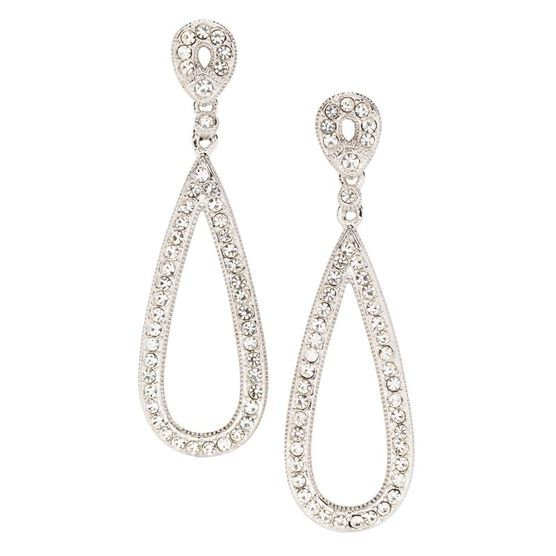 Eliot Danori Open Teardrop Costume Earrings