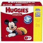 Huggies Snug & Dry - Size 1 - 120's