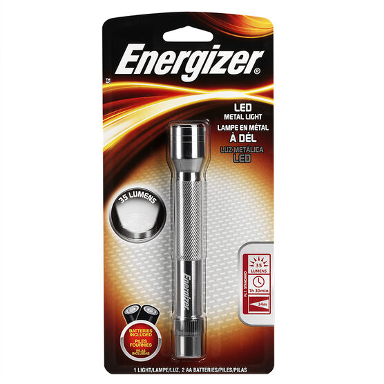 Energizer AA Metal Flashlight - ENML2AAS