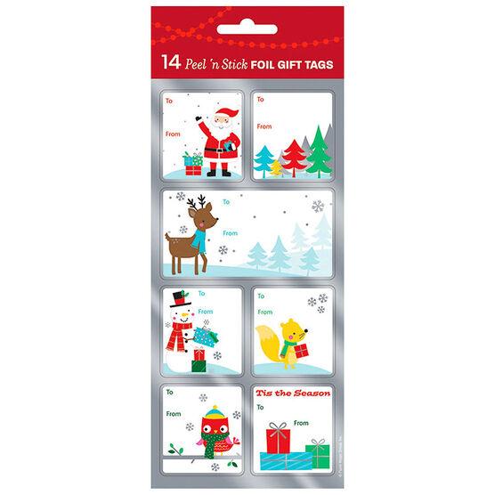 Christmas Holiday Icons Gift Tags - 14s